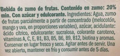 Multivitaminas 2L Don Simón - Ingredients - es