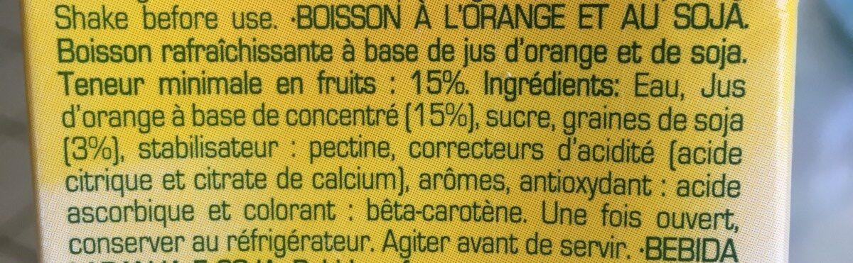 Soja sabot naranja - Ingrédients - fr
