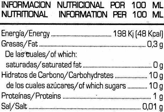 Soy Don Simón Soja Naranja - Información nutricional