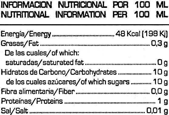 soy don simon - Información nutricional