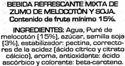 Soja sabor melocoton - Ingredientes - es
