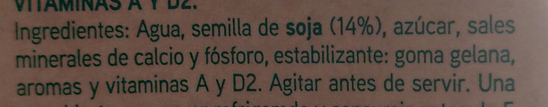 Bebida de soja - Ingredients - es