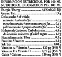 Bebida de soja Don Simón Natural - Informació nutricional