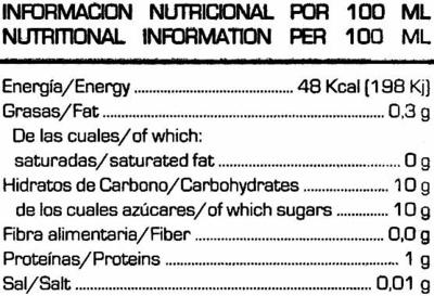Soy Don Simón multifruta - Informació nutricional