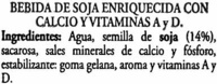 Soy Don Simón Soja Natural - Pack de 6 - Ingredientes