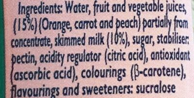 Mediterráneo zero materia grasa fruta + leche - Ingredients - en