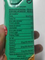 Mediterráneo zero materia grasa fruta + leche - Nutrition facts - en