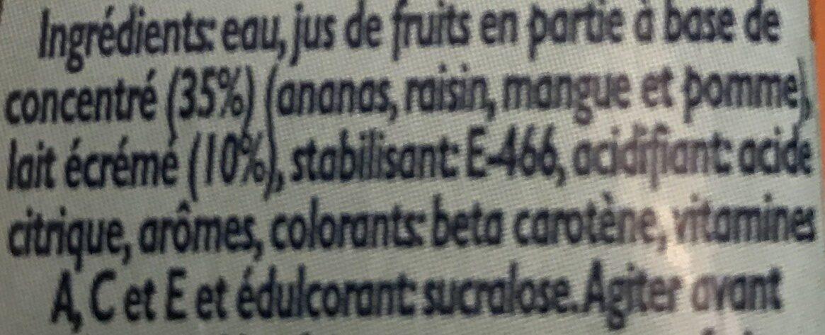 Tropical zero - Ingredienti - fr