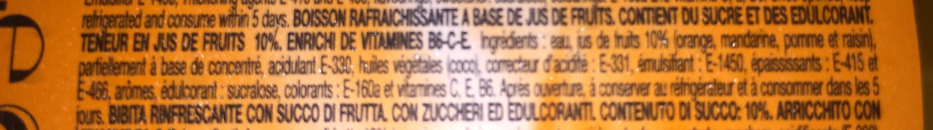 Bebida de zumo de naranja sin gas sin gluten - Ingredients