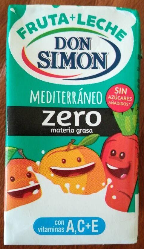 Fruta + leche mediterraneo zero - Produit - es