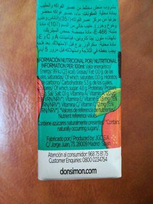 Fruta + leche mediterraneo zero - Informations nutritionnelles - es