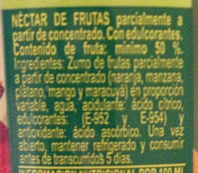 Tropical - Ingredientes