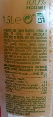 Don Simón Disfruta Tropical - Informations nutritionnelles - fr