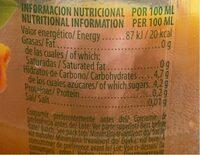 Nectar de Fruits Multifruits - Informació nutricional - es