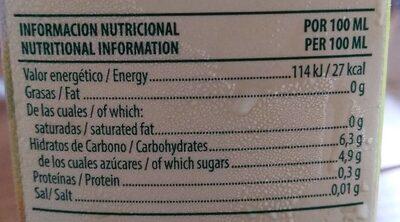 Zumo Disfruta Piña S / Azucar Brik 1L - Informations nutritionnelles - es
