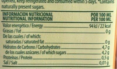 Zumo D.simon Disfruta Melocoton S / Azucar Brik 1L - Informations nutritionnelles - fr