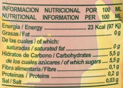 Disfruta Tropical - Información nutricional - es