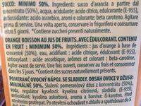 Néctar de naranja - Ingrédients - fr