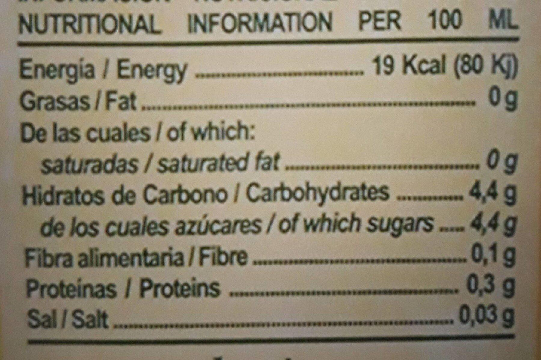 Néctar de naranja - Informations nutritionnelles - fr