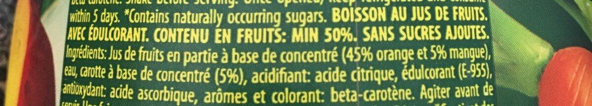 Nectar S/ Az Nar-mang - Ingredients