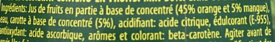 Nectar S/ Az Nar-mang - Ingrédients - fr
