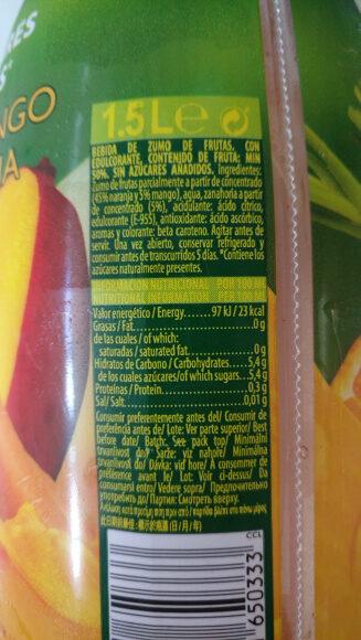 Nectar S/ Az Nar-mang - Informations nutritionnelles - fr
