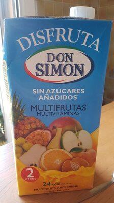 Zumo D.simon Disfruta Multifrutas S / Azucar Brick 2L - Product - es