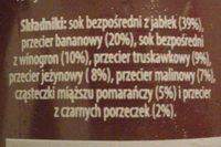 Smoothie Owoce Leśne - Składniki - pl