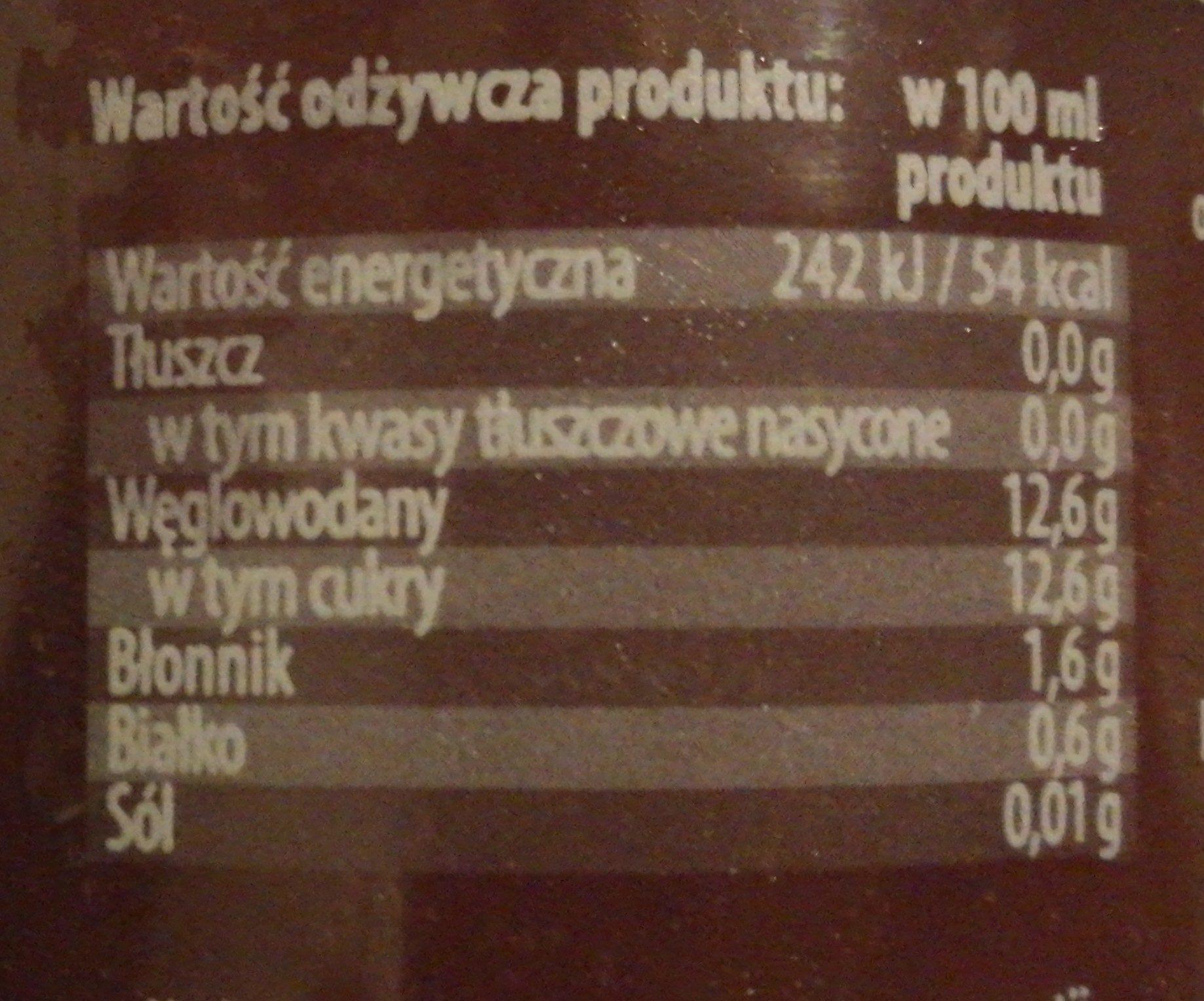 Smoothie Owoce Leśne - Wartości odżywcze - pl