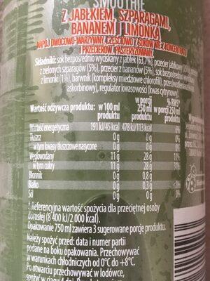 Smoothie Szparagi&Limonka - Informations nutritionnelles - pl