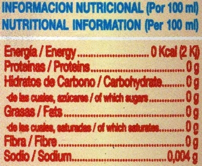 Té frío sabor limón - Nutrition facts - es
