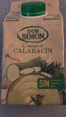 Crema de calabacin - Produit - es