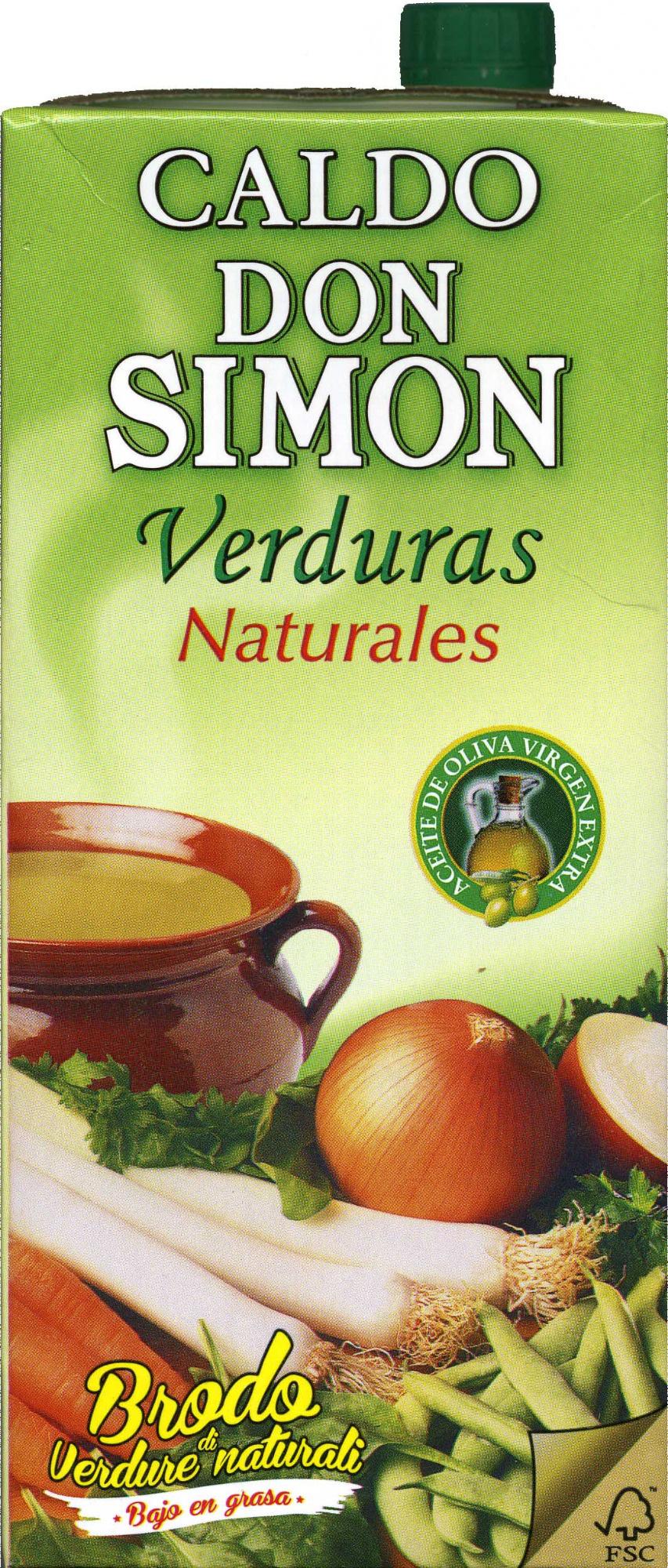 Caldo de verduras - Producte