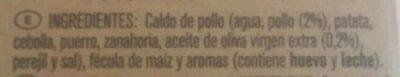Caldo de pollo Don Simón - Ingrédients - es