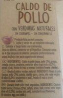 Caldo de pollo Don Simón - Informations nutritionnelles - es
