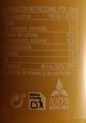 Zumo de naranja ecológico - Informations nutritionnelles - es
