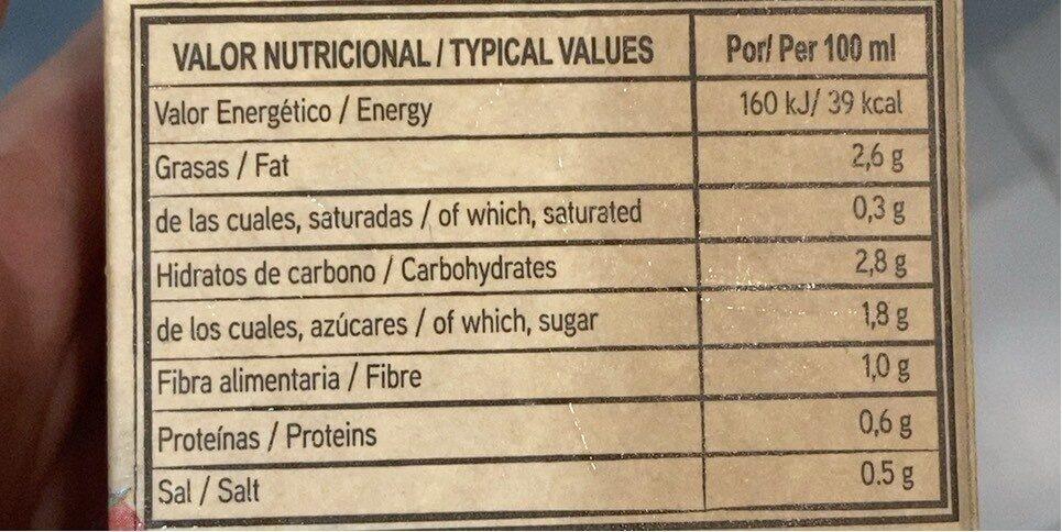Gazpacho Suave - Informations nutritionnelles - es
