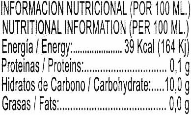 Limonada Exprimida Refrigerada - Nutrition facts