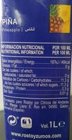 Nectar ananas 1l - Nutrition facts - fr