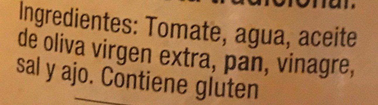 La huerta salmorejo - Ingredientes - fr