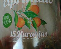Zumo de naranja, con pulpa - Ingrédients - es