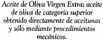 "Aceite de oliva virgen extra ""Koipe"" - Ingrediënten"