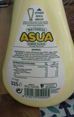 Mayonesa Asua DOSIFICADOR,225 - Ingredients - fr