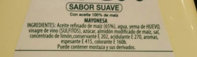 Asua Maonesa Pot - Ingredients