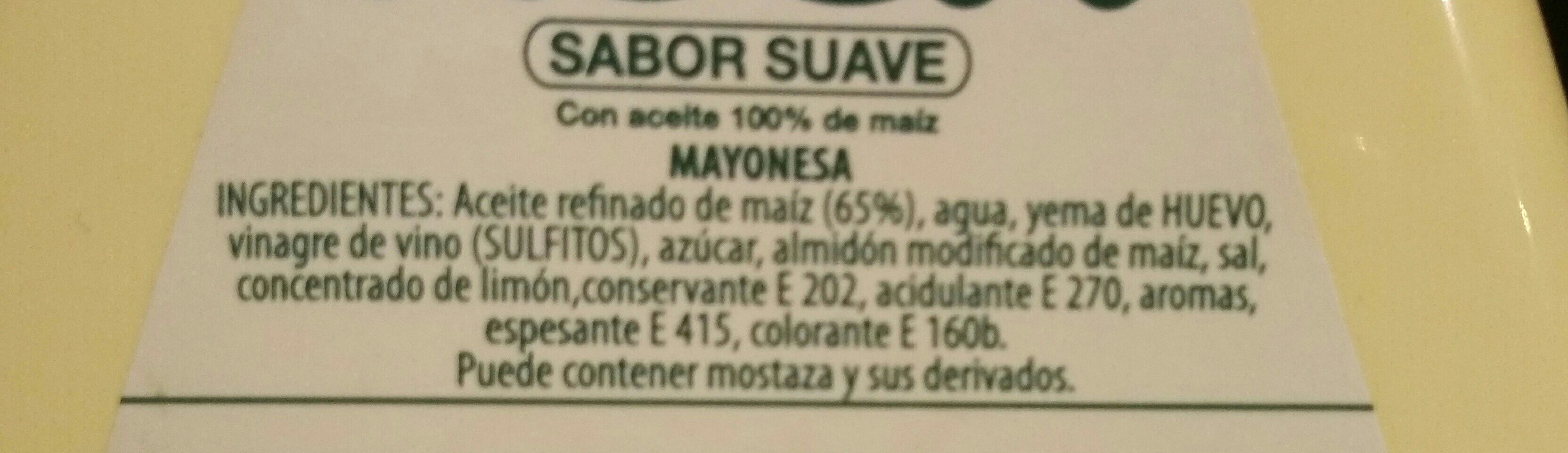 Asua Maonesa Pot - Ingredients - fr