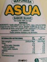 Asua Maonesa Pot - Informació nutricional - fr