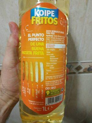 Fritos aceite de girasol especial para freír - Información nutricional