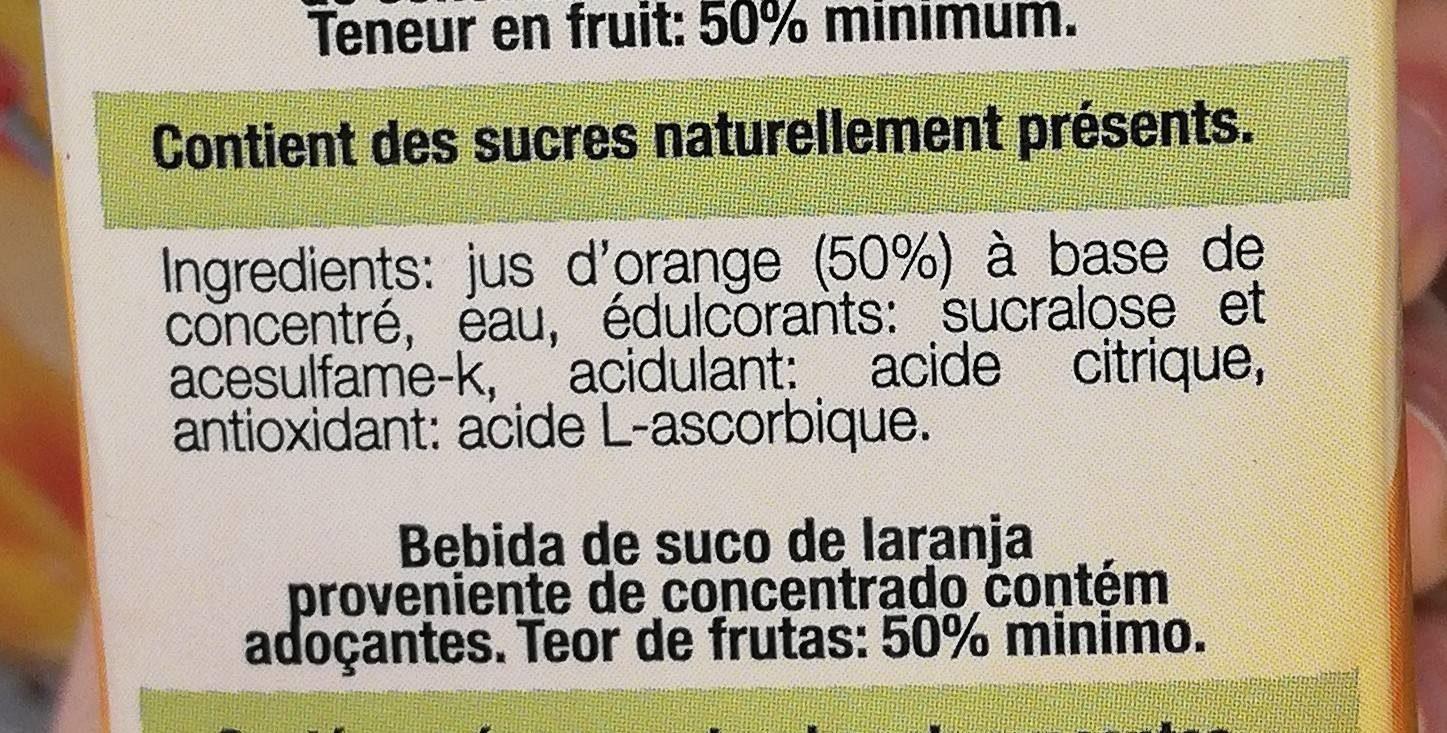Naranja Orange - Ingrédients - fr