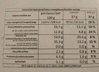 Milhojas doble Chocolate - Información nutricional - es