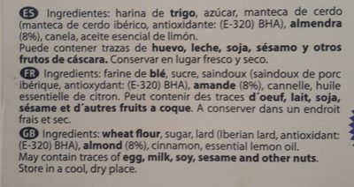 Polvoron tradicional la estepena - Ingredients